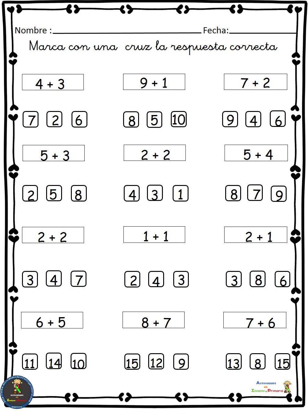 Ejercicios de Matemáticas conteo-sumas-restas Primero ...