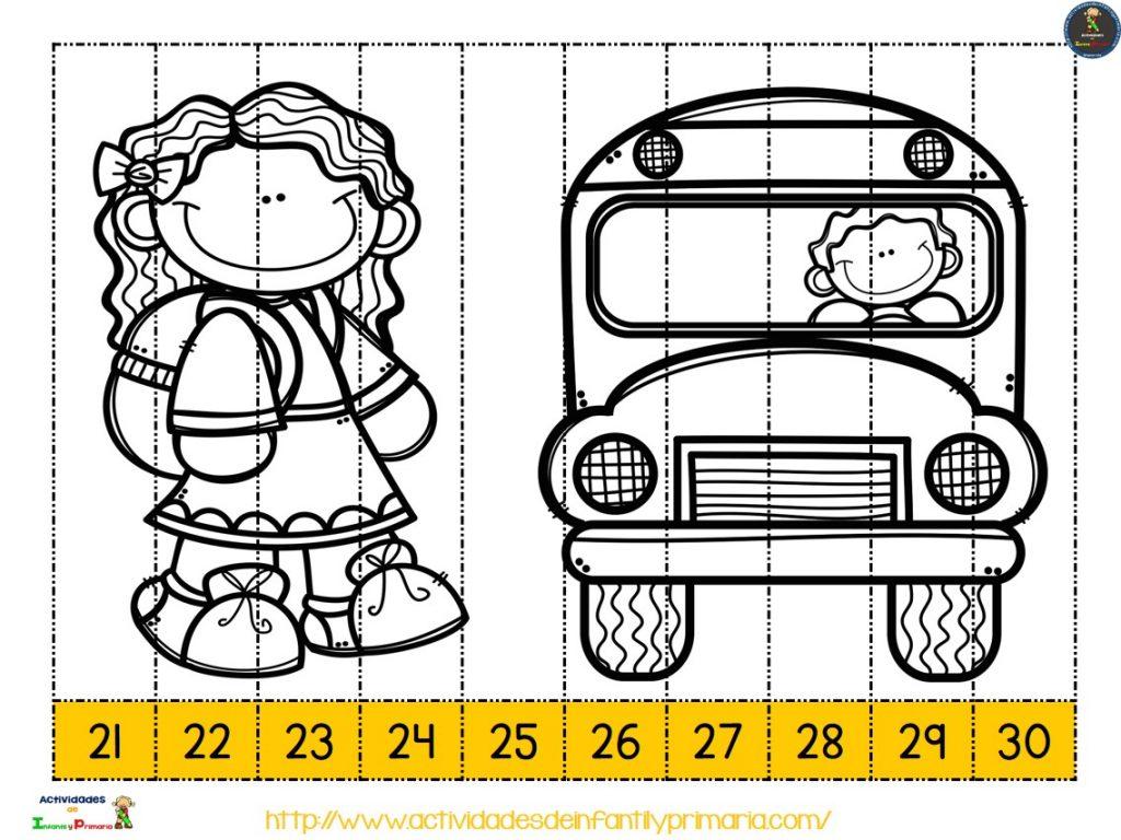 Recortables Para Imprimir. Puzzles Números Y Letras (12